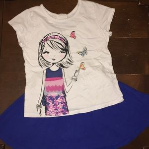 Children's Place outfit - skirt and top